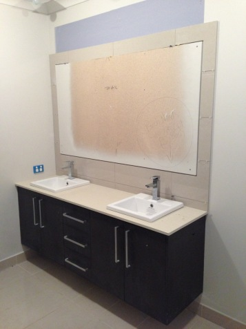 Tiling around mirror - Bathroom